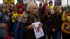 Vivienne Westwood joins fracking protest in Lancashire