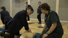 School kids learn life-saving CPR