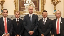 Prince William honours British divers who led Thai cave rescue