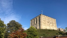 Norwich Castle in the sunshine