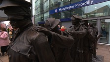 Memorial to blinded serviceman unveiled in Manchester