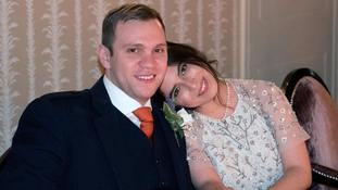 Matthew Hedges with his wife Daniela Tejada.