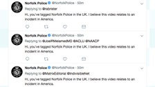 Norfolk Police's case of mistaken Twitter identity
