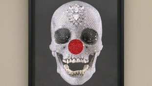 The diamond-encrusted skull will be on show at the Tate Modern.