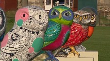 owl sculptures