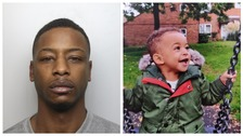 Raphael Kennedy and his son Dylan, who he has been convicted of killing.