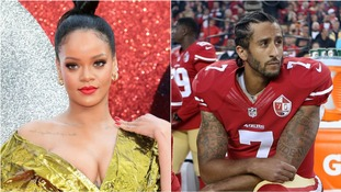 Rihanna 'turned down' the performance in support of kneeling athlete Colin Kaepernick.