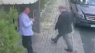CCTV footage shows Jamal Khashoggi entering the Saudi consulate in Istanbul on 2 October