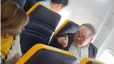 Elderly victim 'depressed' after racial abuse on Ryanair flight