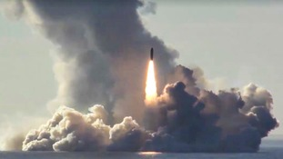 A missile is launched