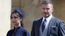 Victoria and David Beckham at the Duke and Duchess of Sussex's wedding.