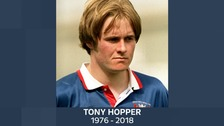 Funeral of former footballer Tony Hopper held today in Carlisle