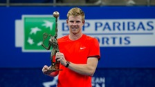 Edmund celebrating winning the European Open