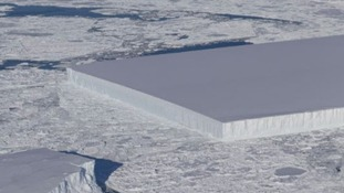 Here's why this gigantic Antarctic iceberg pictured by NASA looks unnaturally rectangular