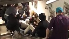 Speeding escalator leaves several people injured in Rome