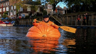Row, row, row your pumpkin, gently down the Ouse