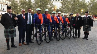 The cyclists in New York
