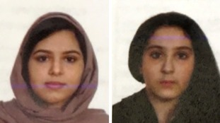Rotana Farea, 22, (left) and Tala Farea, 16, were found tied together.