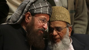 Maulana Samiul Haq (l) was stabbed to death on Friday.