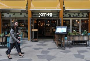 Restaurants including Jamie Oliver's chain are said to have been hit by the rise of 'in-home' leisure