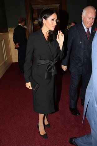 The Duchess of Sussex arrives for the event at the Royal Albert Hall
