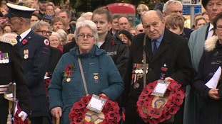 Armistice Day: Pictures of tributes across the East of England