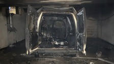 Van gutted in underground car park fire in Southampton