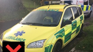 A man driving a 'fake ambulance' has been arrested near Swansea
