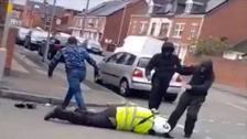 CCTV shows the attack on the traffic warden.