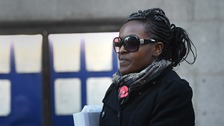 Fiona Onasanya, Peterborough MP, leaves the Old Bailey