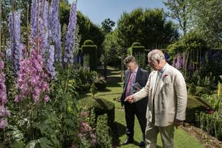 Charles shows Country Life editor Mark Hedges around his gardens at Dumfries House