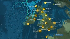 Dry weather for many with very mild temperatures for November