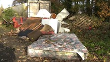 Pensioner finds piano, sofa and white goods dumped illegally on his land