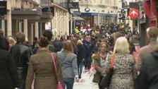 A busy high street in Jersey