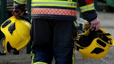 Man rescued from fire in tower block flat