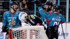 Belfast Giants captain Blair Riley scored twice against Italian side Ritten Sport.