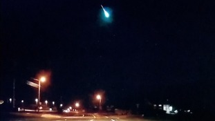 Several motorists captured the fireball over the Texas night sky.