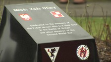 Memorial to Polish airmen stationed in NI unveiled