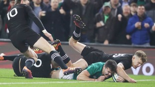 Ireland prevail over New Zealand in thrilling Dublin battle