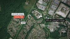 Man arrested on suspicion of murder after woman dies in house fire in Kent