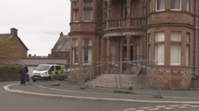 Annan hotel fire treated as suspicious