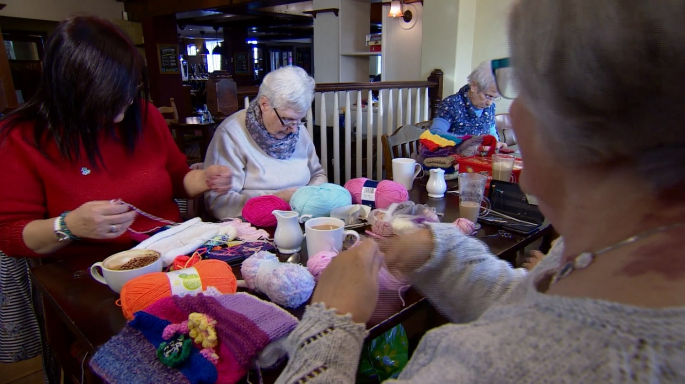 How the skills of a knitting group from Cheshire are helping people with dementia