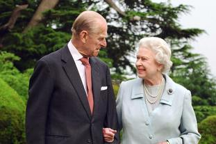 The Queen and the Duke of Edinburgh at Broadlands in Romsey, Hampshire, where they spent part of their honeymooned in 1947, in photos marking their diamond wedding anniversary in 2007