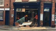 Derbyshire business owners left 'devastated' after car crashes into restaurant