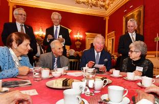 The Prince of Wales meets with members of the Association of Jewish Refugees