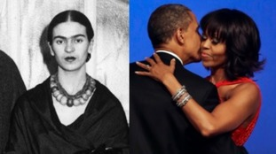 Frida Kahlo and Michelle Obama, seen at Barack Obama's inauguration ball in 2013, would be Claire Ptak's dream dinner guests.