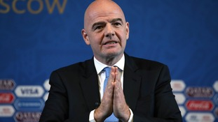 Infantino: Spreading 2022 World Cup matches could help peace in Middle East