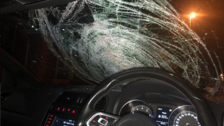 Police condemn 'unbelievable' driver over damaged windscreen