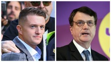 Former EDL leader Tommy Robinson and Ukip leader Gerard Batten