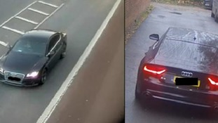 Police want to hear from anyone who saw this black Audi A7.